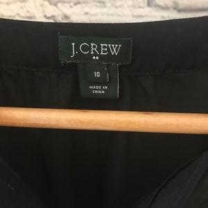 J Crew Sheer Tuxedo Blouse Shirt EUC